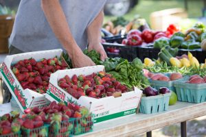 Strawberry vendor at Orange Park Farmers and Arts Market