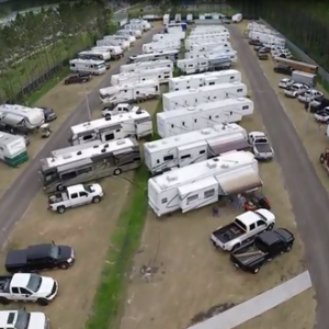 Aerial View of Fair Association RV Park
