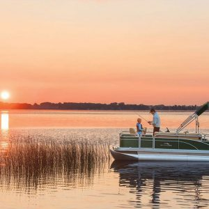 father and son with Boat Florida Rentals