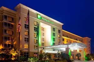 Holiday Inn and Suites Orange Park Exterior at Night
