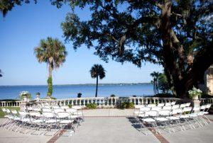 Riverfront Wedding Set Up at Club Continental, Orange Park, FL