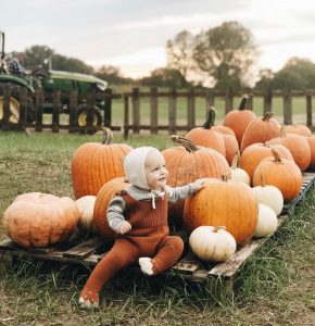 baby at Amazing Grace Family Farms Fall Festival Pumpkin Patch