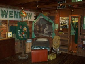 Display at Historic Girl Scout Museum