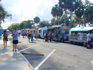 Line of Trucks at Food Truck Fridays in Green Cove Springs